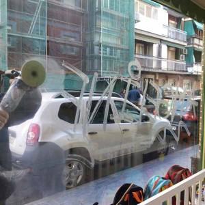 Eliminación Graffitis cristales. Bilbao