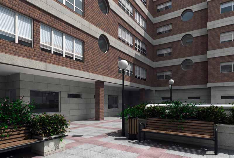 Limpieza de comunidades patios en bilbao limpiezas 3h for Exterior edificios